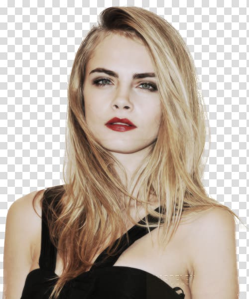 Cara delevigne clipart clipart black and white Cara Delevingne Blond Beauty Model Hair, cara delevingne transparent ... clipart black and white