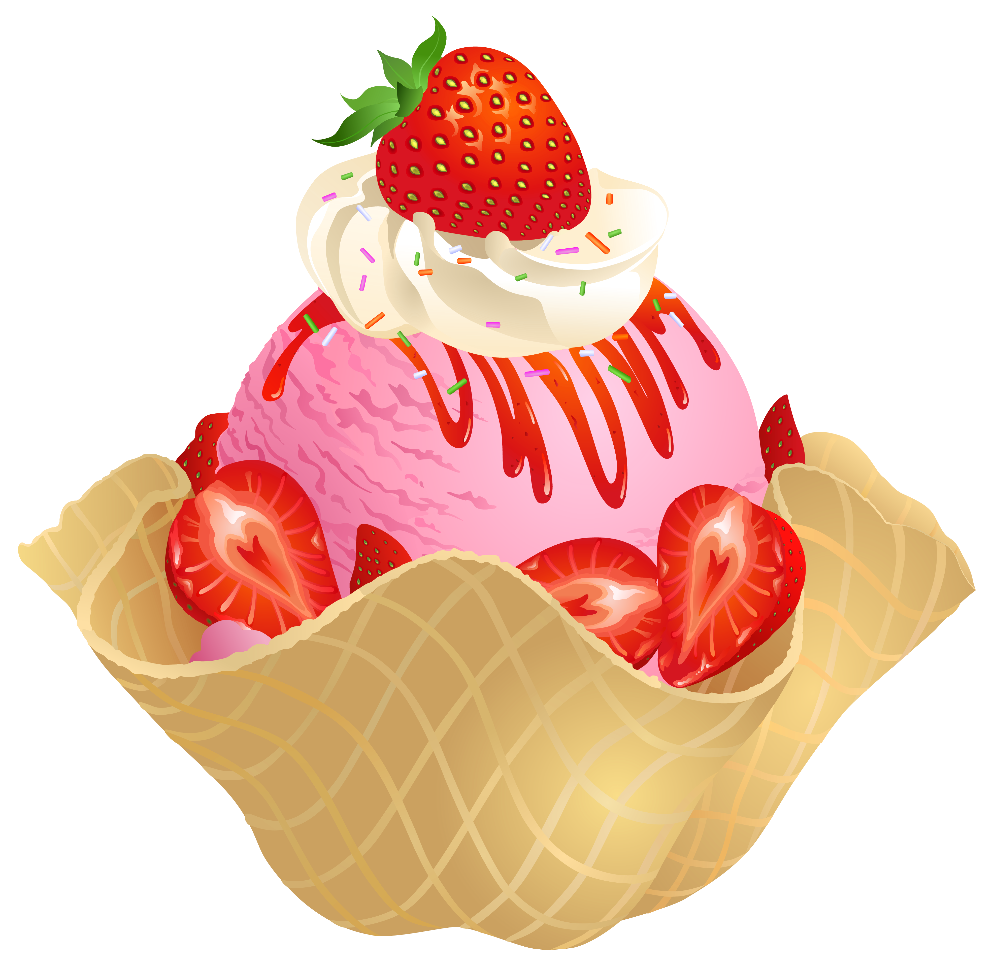 Caramel apple clipart transparent background clip art freeuse stock Transparent Strawberry Ice Cream Waffle Basket PNG Picture | Clip ... clip art freeuse stock