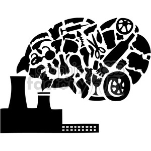 Carbon dioxide clipart black and white download factory pollution releasing Carbon dioxide clipart. Royalty-free clipart #  386089 black and white download