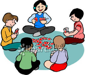 Card playing clipart png transparent library Children Playing A Card Game | Clipart Panda - Free Clipart Images png transparent library