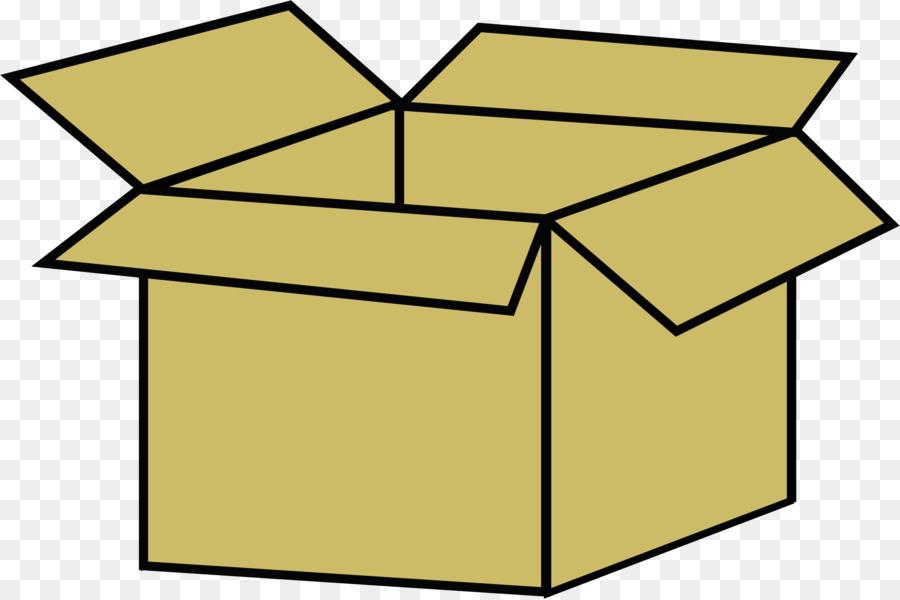 Clipart cardboard box jpg black and white download Cardboard Box clipart - Box, Yellow, Line, transparent clip art jpg black and white download