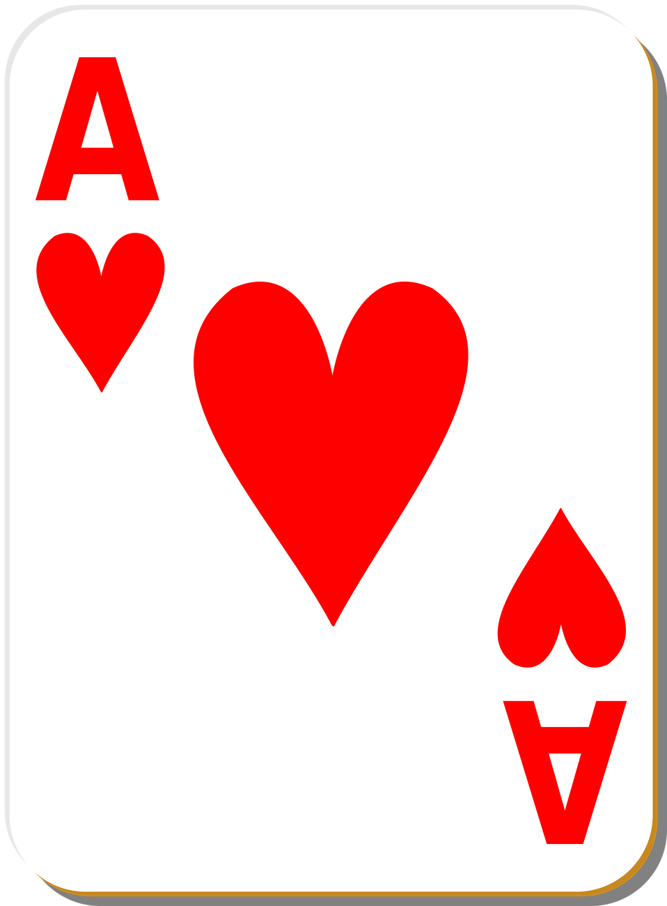 Playing card clipart free vector freeuse download Ace Heart Playing Card Clip Art | Budget cuts in 2019 | Hearts ... vector freeuse download
