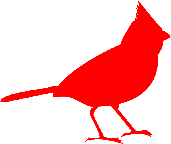 Cardinal silhouette clipart svg library library The Basic Birder Wild Bird Supply Northern cardinal Silhouette Clip ... svg library library