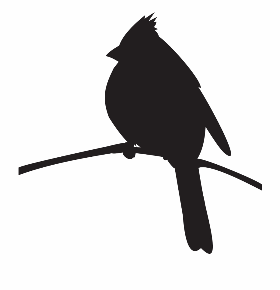 Cardinal silhouette clipart clipart library library Northern Cardinal - Cardinal On A Branch Silhouette Free PNG Images ... clipart library library
