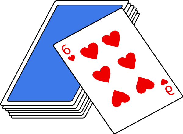 Number cards clipart