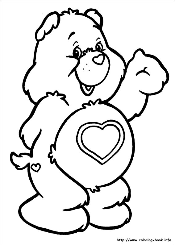 Care bears clipart black and white clipart black and white The Care Bears coloring pages on Coloring-Book.info clipart black and white