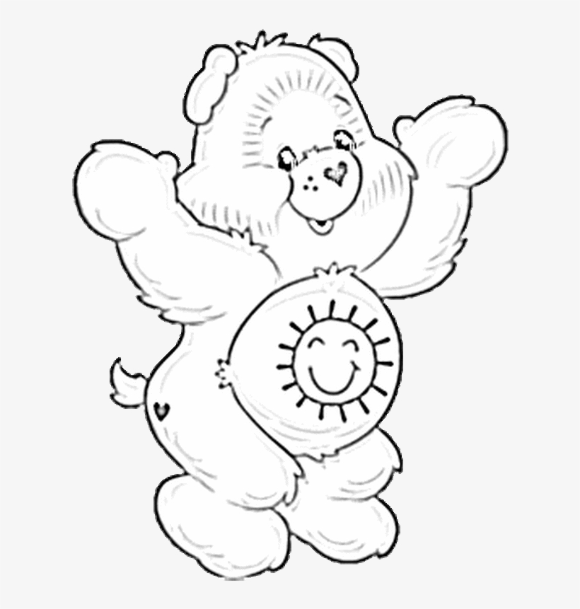 Care bears clipart black and white picture black and white Image Free Stock Care Bears Cartoons Printable Coloring - Care Bear ... picture black and white