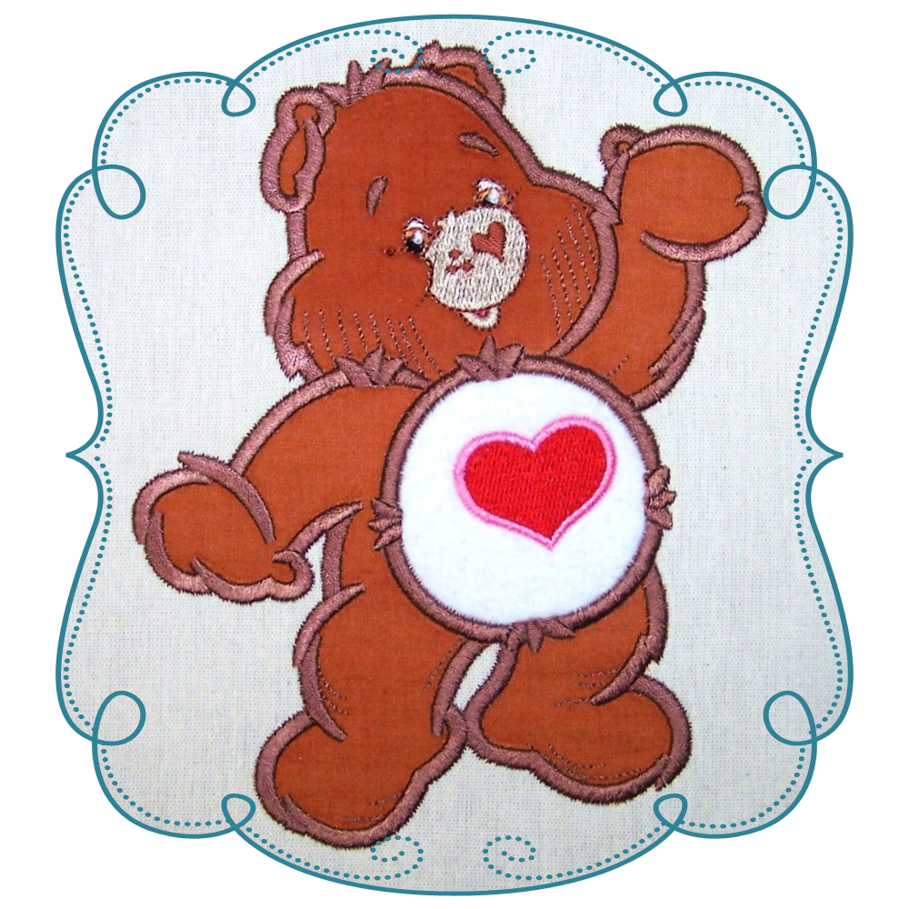 Care bears clipart pumpkin vector black and white download Care Bear Hearts Applique Machine Embroidery Design Pattern-INSTANT ... vector black and white download