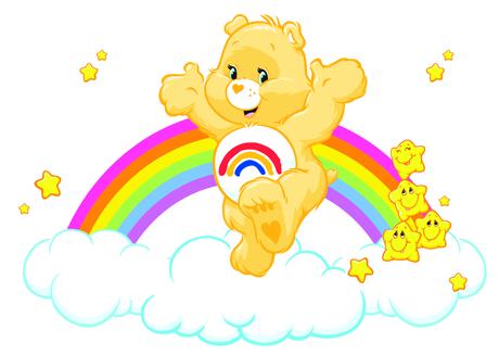 Care bears on rainbow clipart