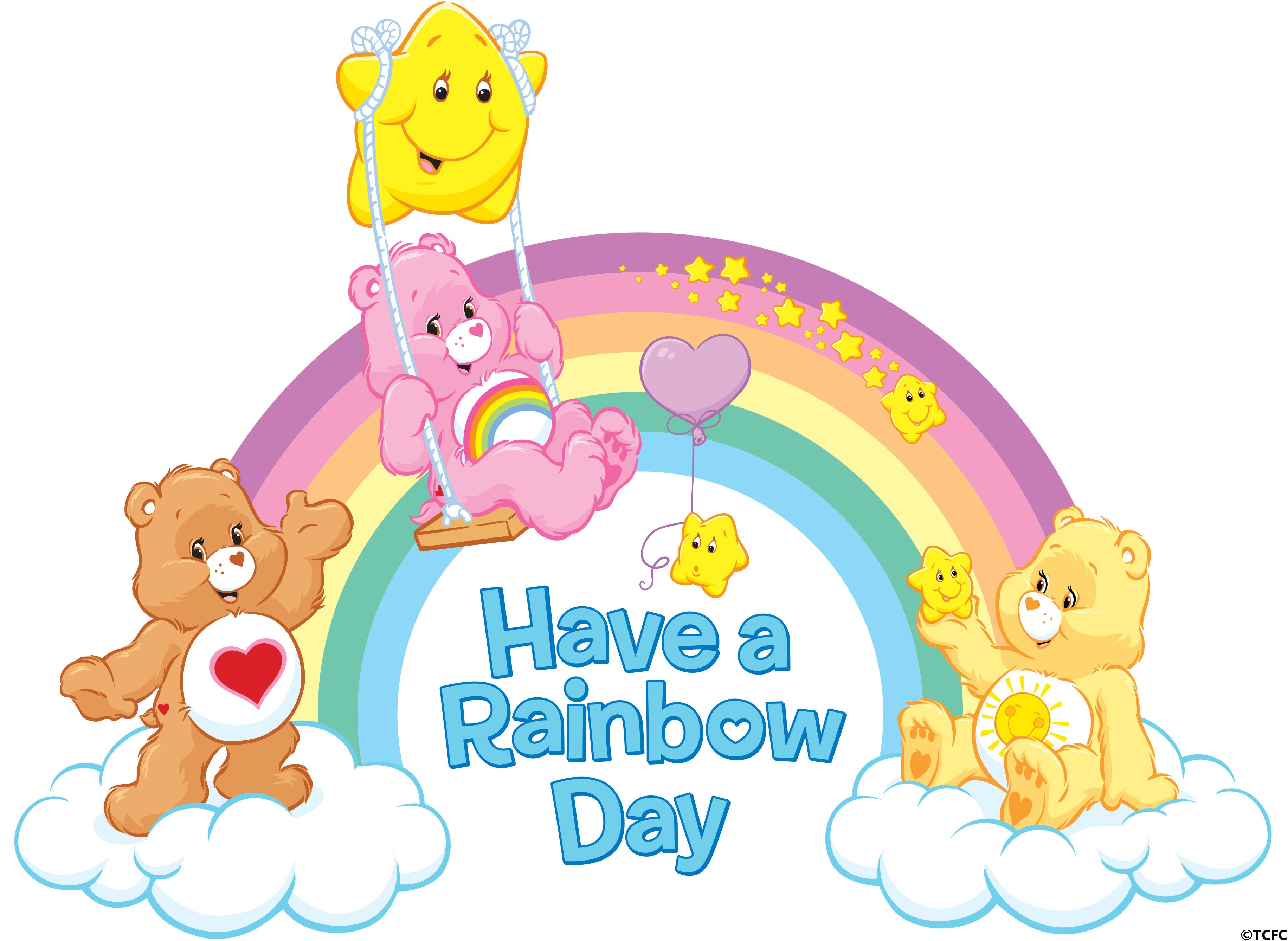 Care bears on rainbow clipart picture free download Have a Rainbow Day with the Care Bears! #ShareYourCare   Meet the ... picture free download
