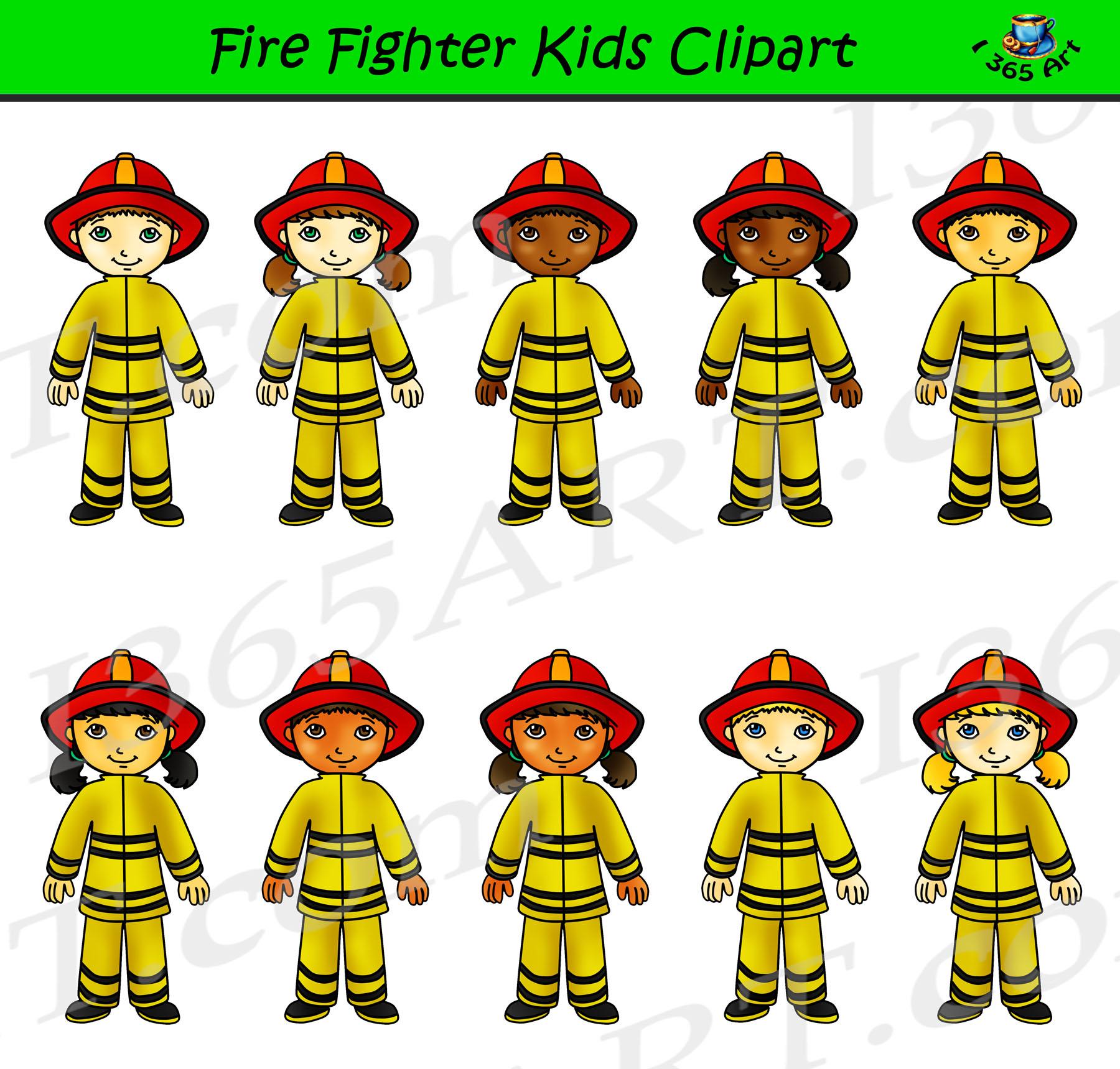 Career clipart for kids clip art library Firefighter Clipart Kids - Career Day Graphics clip art library