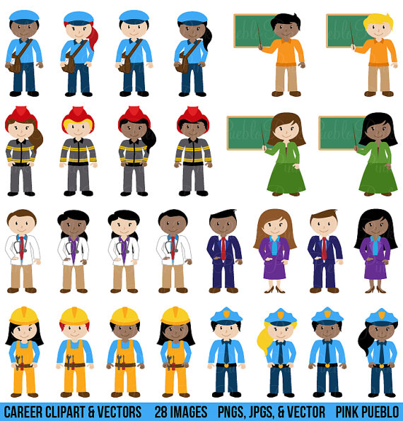 Career pictures clipart picture transparent library People Clipart Clip Art, Includes Character Career Teacher Classroom ... picture transparent library