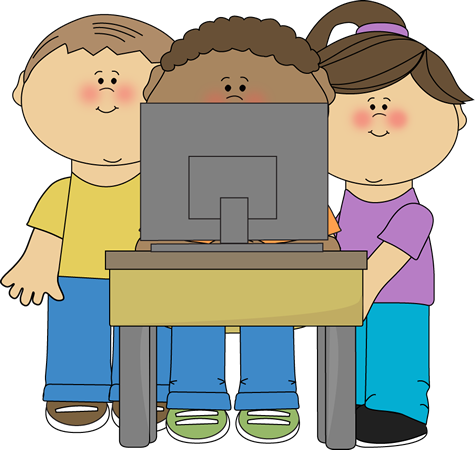 Career faith free clipart royalty free download Kids using a school computer from MyCuteGraphics | School Kids Clip ... royalty free download
