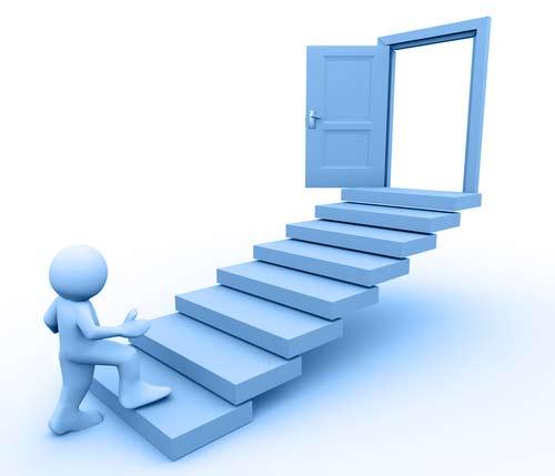 Career path steps clipart