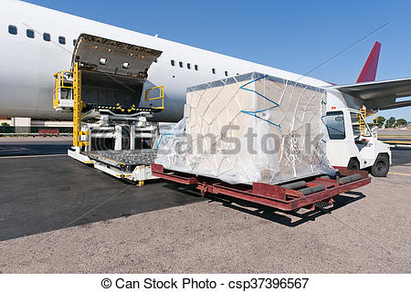 Cargo plane loading clipart clipart royalty free Stock Image of Loading cargo plane - Loading platform of air ... clipart royalty free