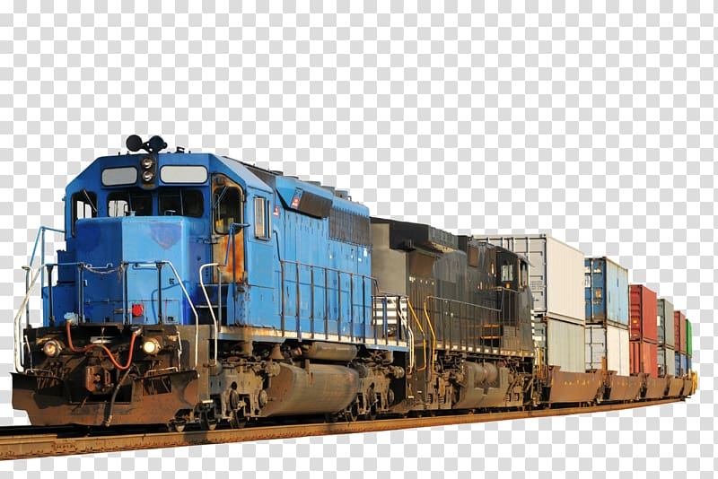 Cargo train clipart png Blue cargo train, Rail transport Train Intermodal freight transport ... png