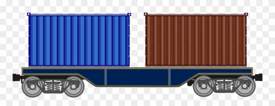 Cargo train clipart picture stock Clipart Train Freight Train - Container On Train Png Transparent Png ... picture stock