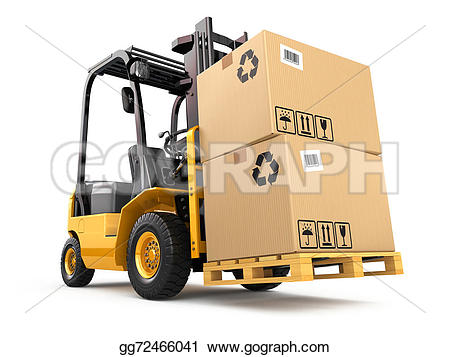 Cargo truck clipart 100 x 100 vector freeuse library Stock Illustration - Forklift truck with boxes on pallet. cargo ... vector freeuse library