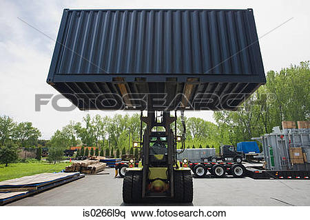 Cargo truck clipart 100 x 100 clip art download Stock Image of Fork lift truck with cargo container is0266l9q ... clip art download