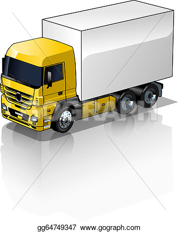 Cargo truck clipart 100 x 100