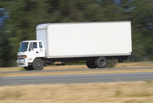 Cargo truck clipart 100 x 100 image stock Trucking Photo Clipart Image - Large Cargo Truck Traveling Down ... image stock