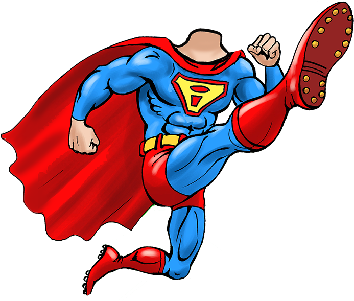 Caricature body templates clipart banner transparent library HD Superhero Body Png - Superhero Cartoon Body Png , Free Unlimited ... banner transparent library