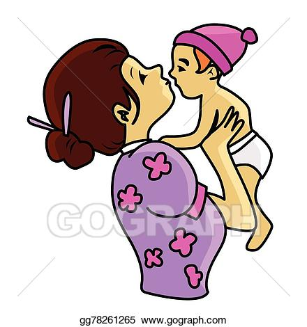 Caring kid clipart graphic library stock Vector Art - Mother and child care . EPS clipart gg78261265 - GoGraph graphic library stock