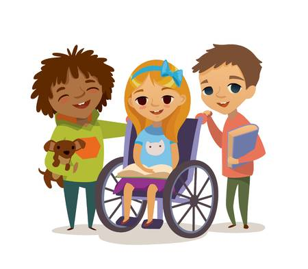 Caring kid clipart jpg free download Caring For The Disabled Child. Learning And Playing Together H - 393 ... jpg free download