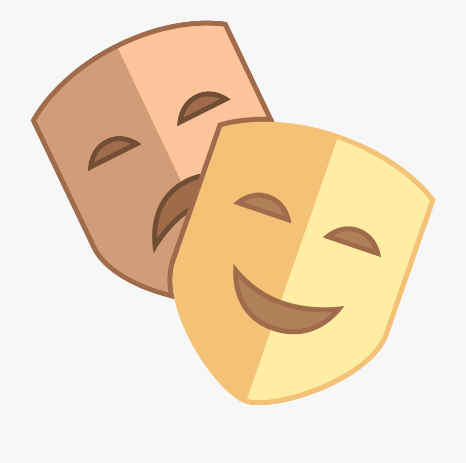 Carita feliz emoji clipart clipart library download Theatre Clipart Happy Sad Face - Happy And Sad Face Theater #890126 ... clipart library download
