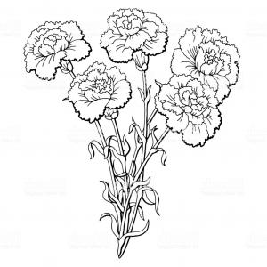 Carnation clipart black graphic library Carnation Black Color Icon Vector Clipart | SOIDERGI graphic library