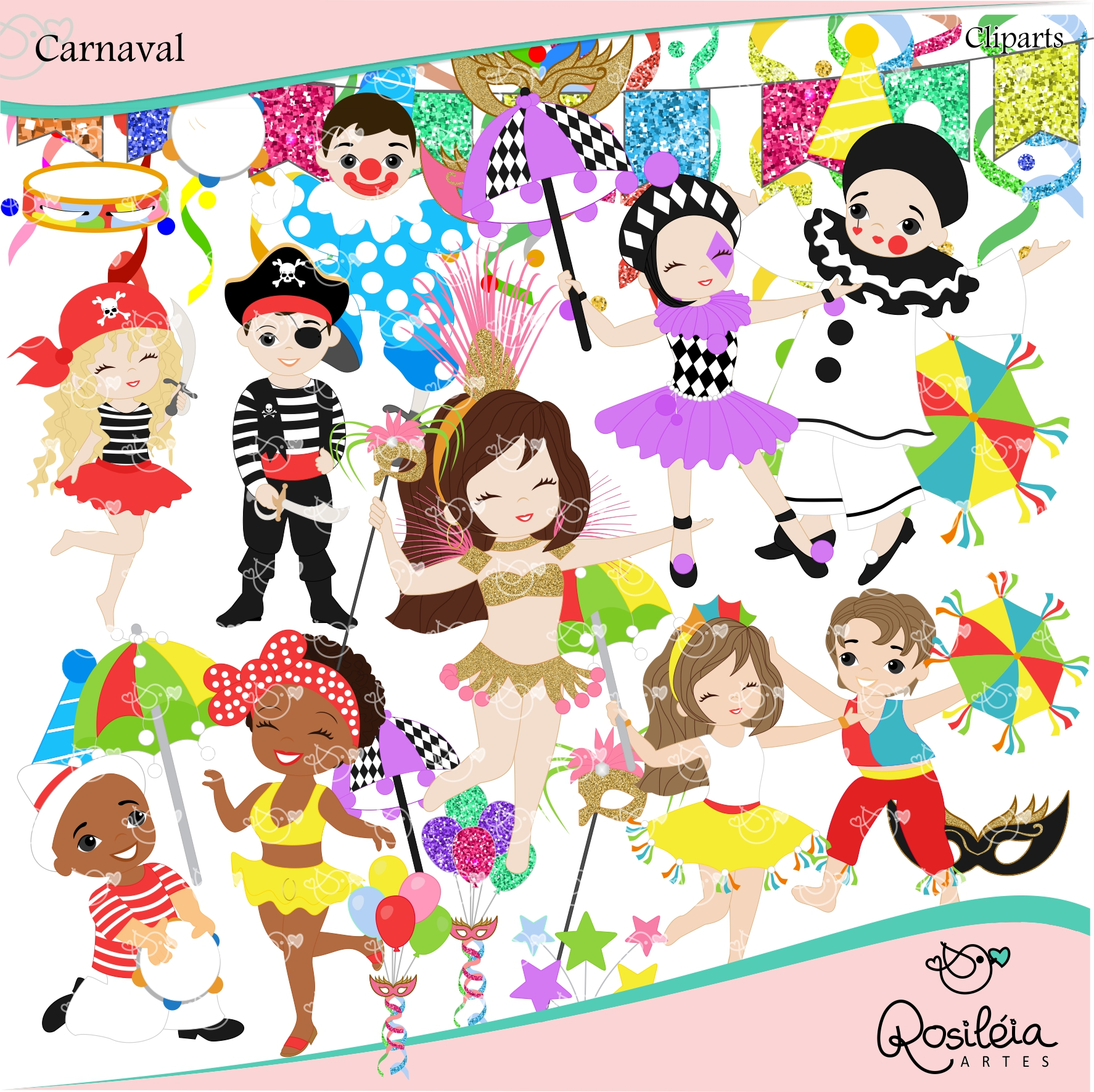 Carnaval clipart vector freeuse library Carnaval Clipart | Elo7 vector freeuse library