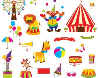 Carnaval clipart vector library library Circus Clip Art Clipart, Carnival Clip Art Clipart, Great for ... vector library library
