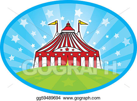Carnaval clipart picture library download Vector Illustration - Carnaval tent. EPS Clipart gg59489694 - GoGraph picture library download