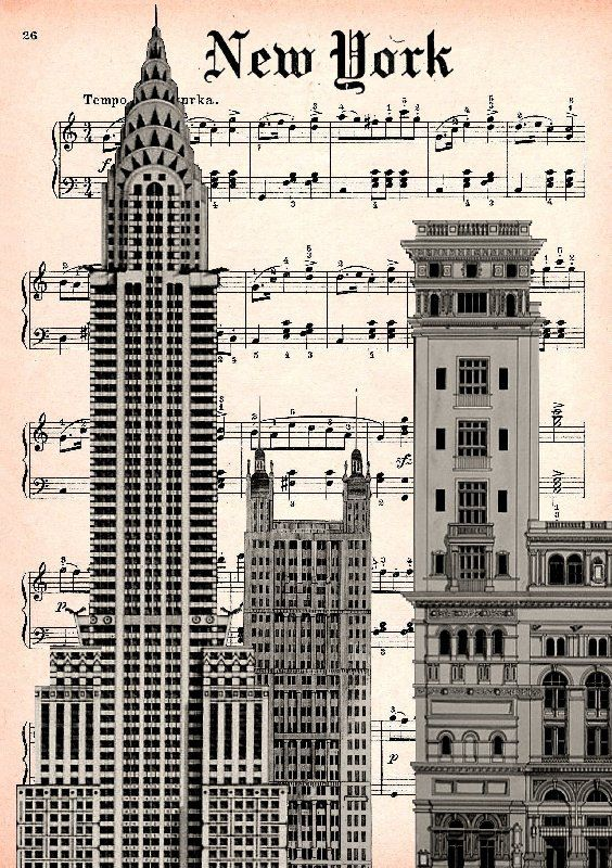 Carnegie hall clipart clipart free library CARNEGIE HALL print poster mixed media painting illustration - Clip ... clipart free library
