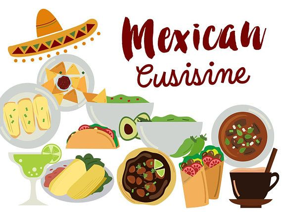 Carnitas clipart svg black and white Mexico Clip Art, mexican food clipart, mexican cuisine Tacos Tamales ... svg black and white
