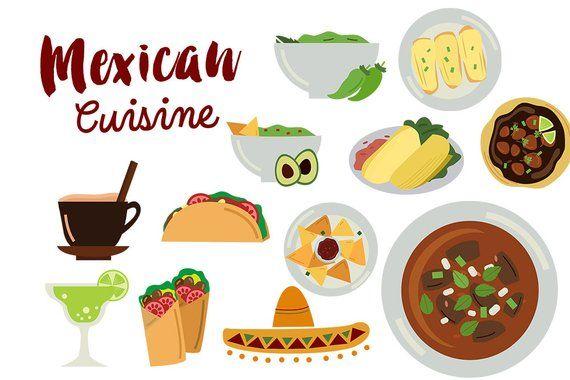 Carnitas clipart svg freeuse download Mexico Clip Art, mexican food clipart, mexican cuisine Tacos Tamales ... svg freeuse download