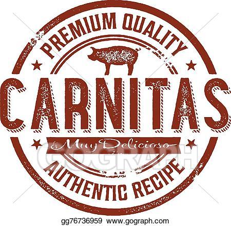 Carnitas clipart svg free download Vector Illustration - Vintage mexican carnitas pork stamp. EPS ... svg free download