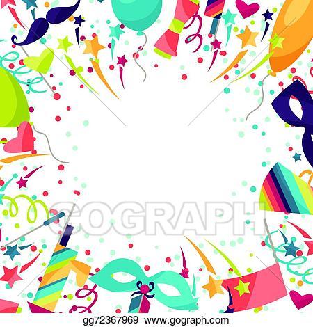 Carnival celebration clipart svg black and white EPS Illustration - Celebration festive background with carnival ... svg black and white