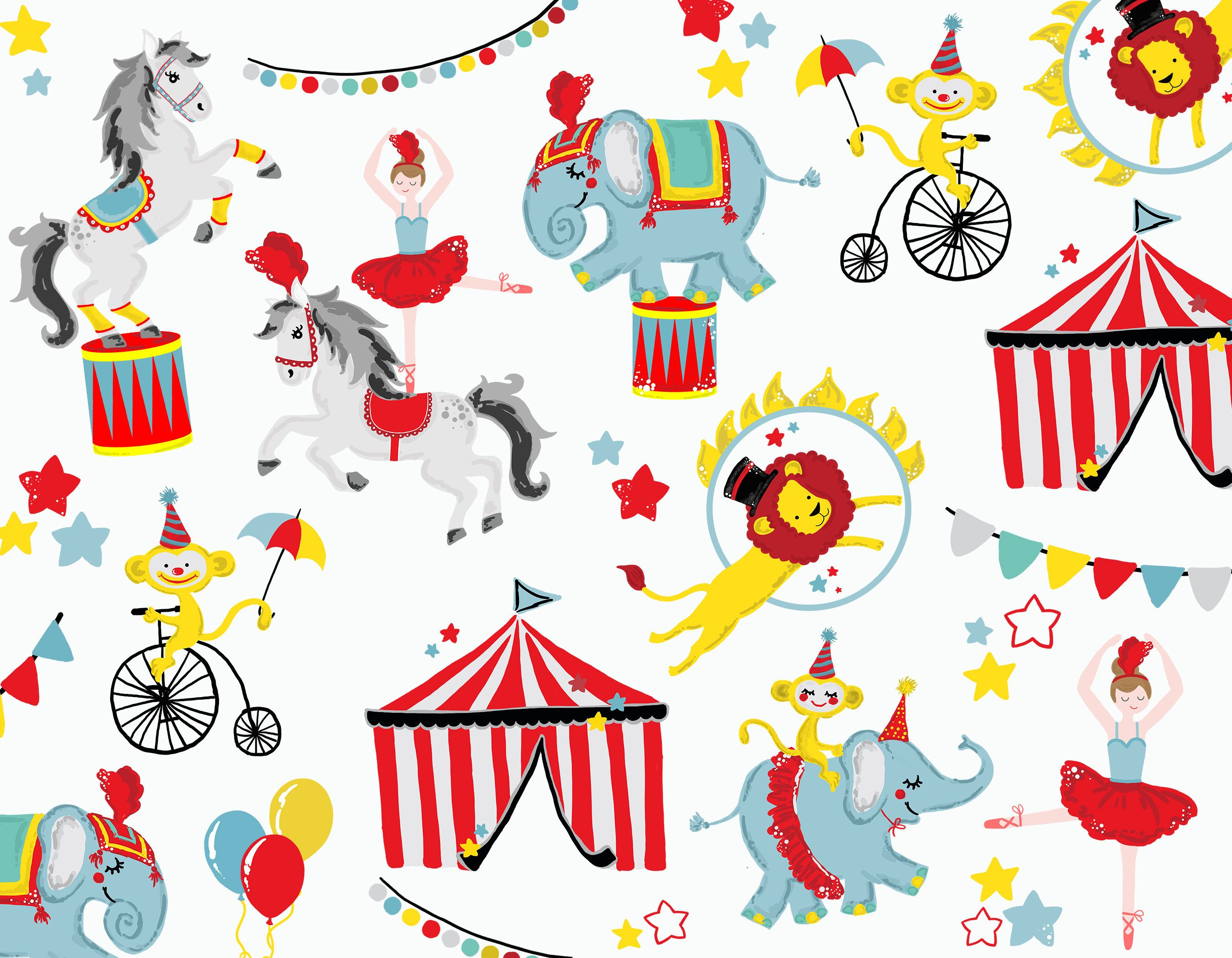 Circus graphics clipart jpg freeuse Circus Show Clipart, Circus Animals Clip Art, Carnival Celebration ... jpg freeuse