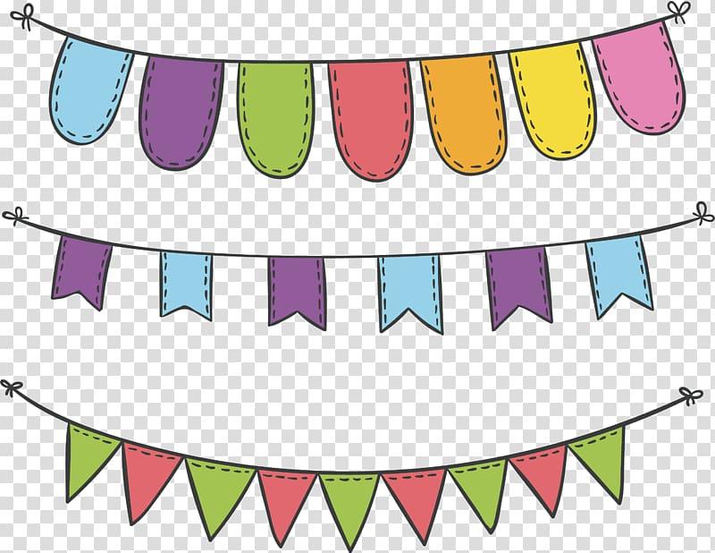 Carnival celebration clipart clip download Bunting illustration, Sky lantern Flag, Carnival Party Decorative ... clip download