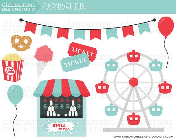 Carnival food field trip clipart picture library download carnival ferris wheel clip art | Carnival Fun Clip Art Set ... picture library download