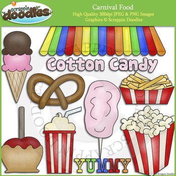 Carnival food field trip clipart banner transparent download Carnival Food Clipart Worksheets & Teaching Resources | TpT banner transparent download