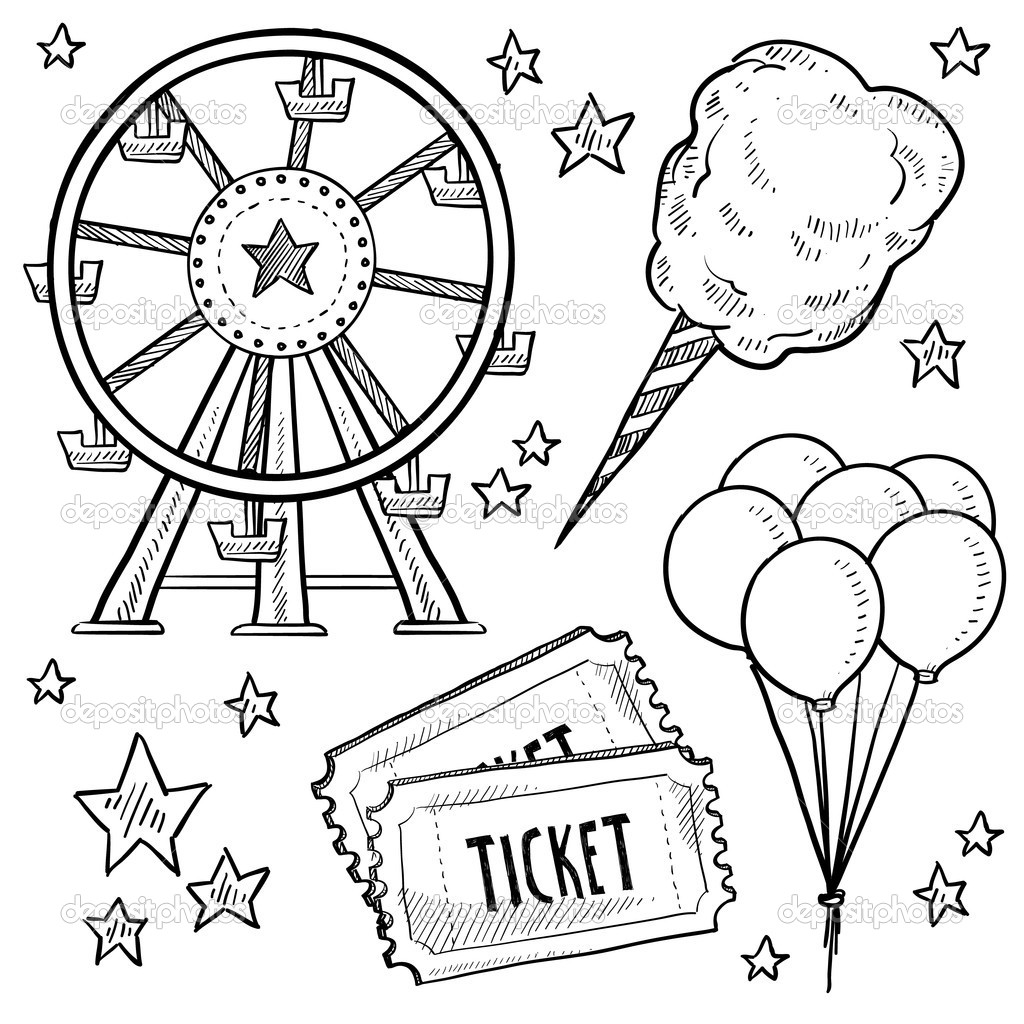 Carnival games kids playing clipart black and white graphic royalty free stock Carnival Games Clipart Black And White graphic royalty free stock