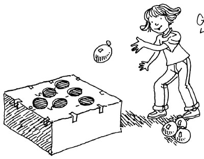 Carnival games kids playing clipart black and white royalty free stock Tossing Games for Kids   HowStuffWorks royalty free stock