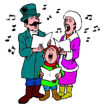 Christmas carol singing clipart png free library People Singing Christmas Carols Clipart - Free Clip Art Images ... png free library