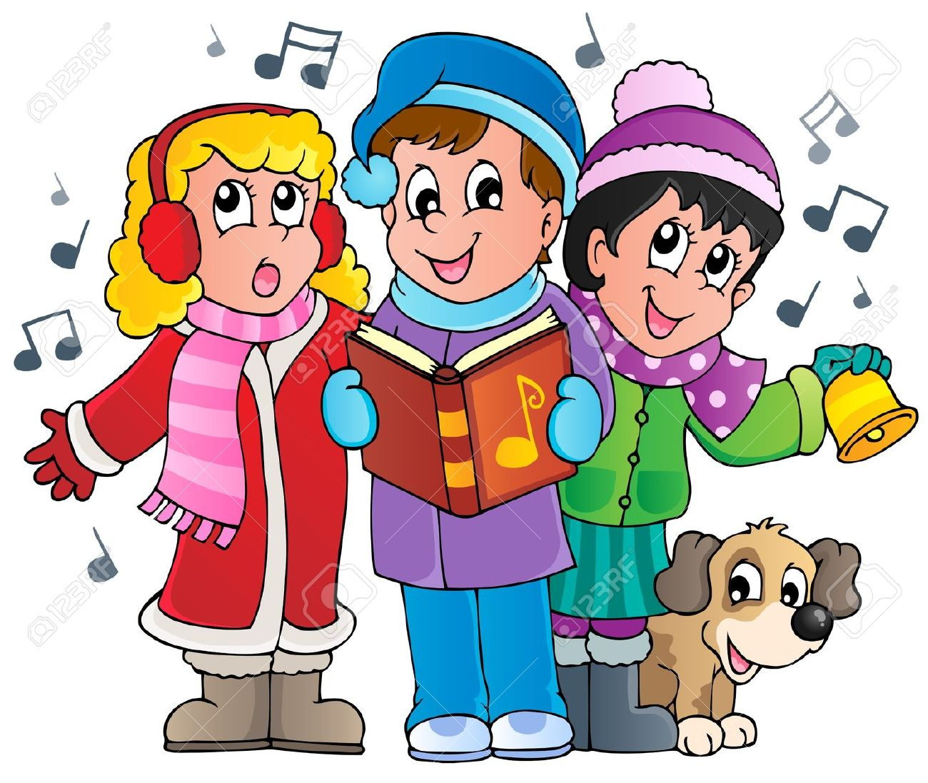 Carolers clipart free vector royalty free 17+ Christmas Carolers Clipart | ClipartLook vector royalty free