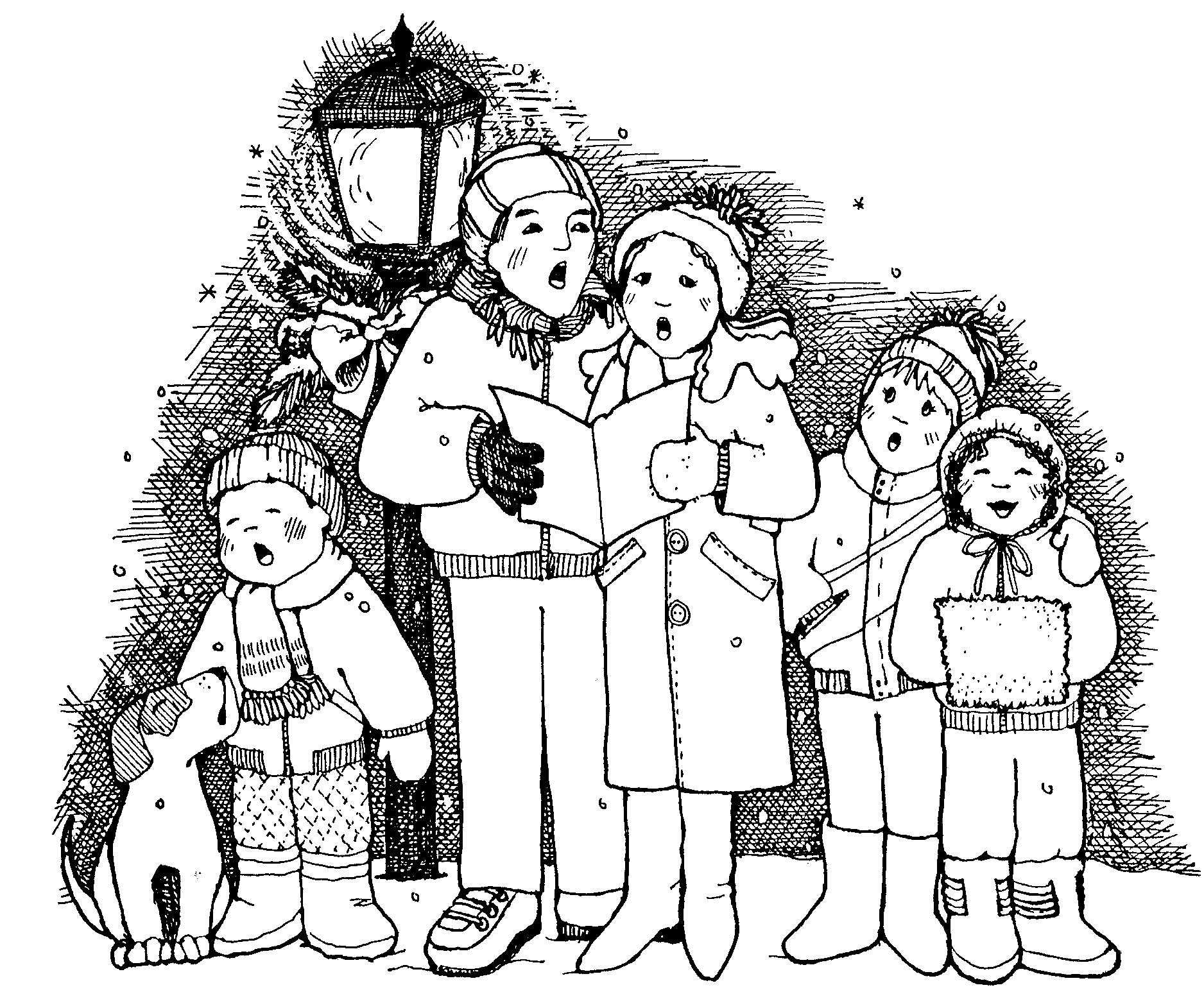 Christmas carollers clipart black and white jpg royalty free download Free Christmas Cliparts Carolers, Download Free Clip Art, Free Clip ... jpg royalty free download