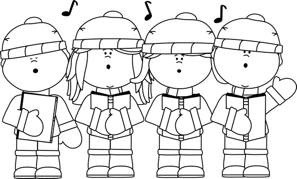 Cliparts carolers download clip. Free kids christmas caroling clipart black and white