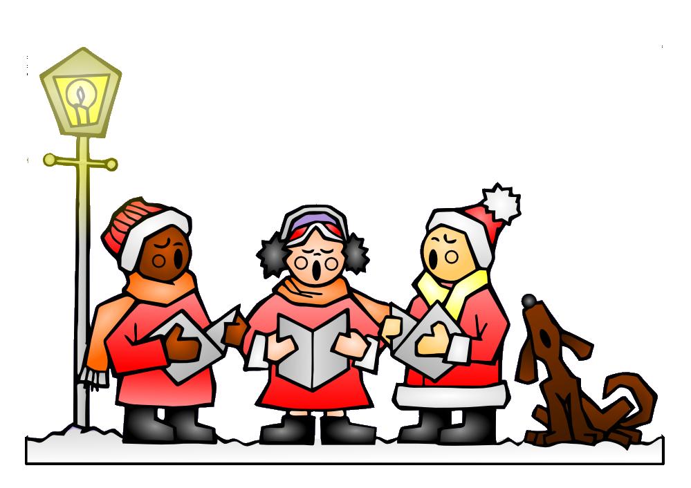 Worship christmas songs clipart