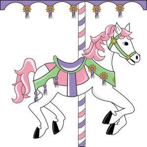 Circus horse clipart image freeuse Carousel Horse Clipart Image: Pretty pink themed carousel horse on a ... image freeuse